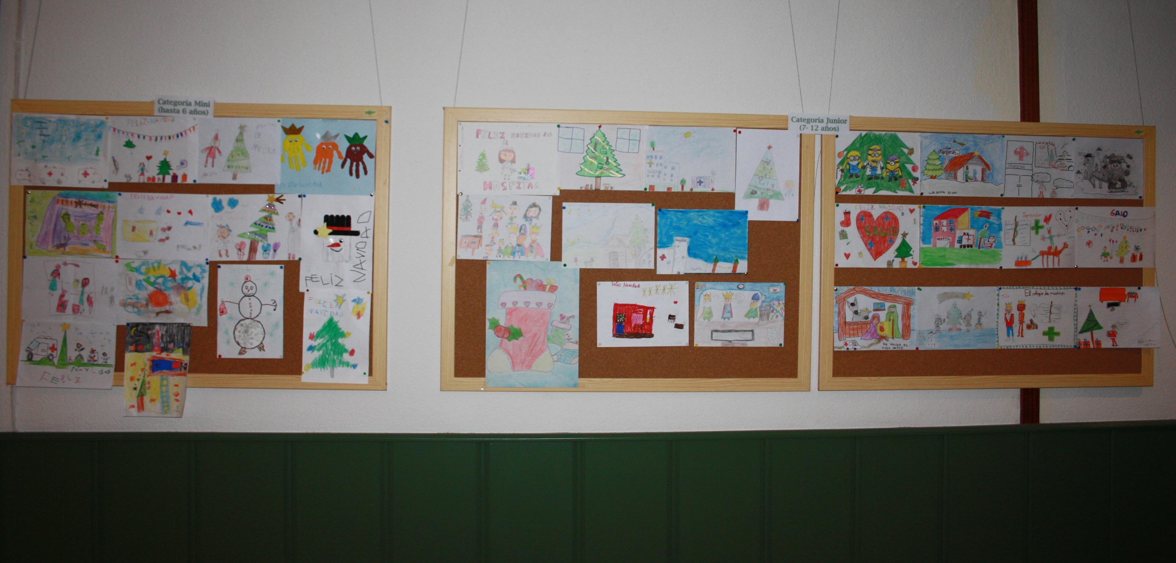 30-11-2017 exposición dibujos concurso navidad