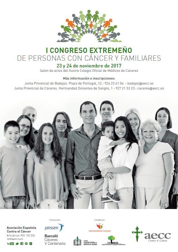 Cartel I Congreso Autonómico Aecc 2017