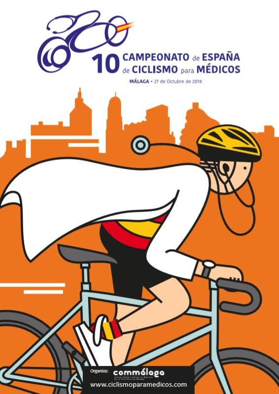 Cartel campeonato de ciclismo Málaga