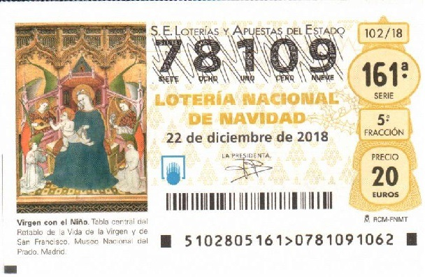Décimo lotería 2018