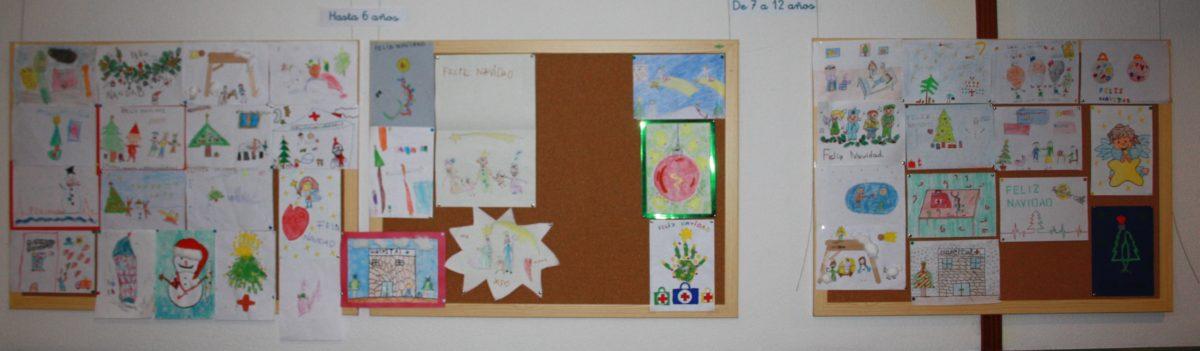 exposición dibujos Navidad