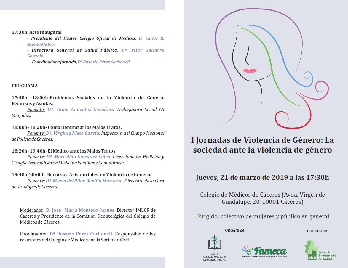 Imagen programa I Jornada Violencia de Género 21-03-2019