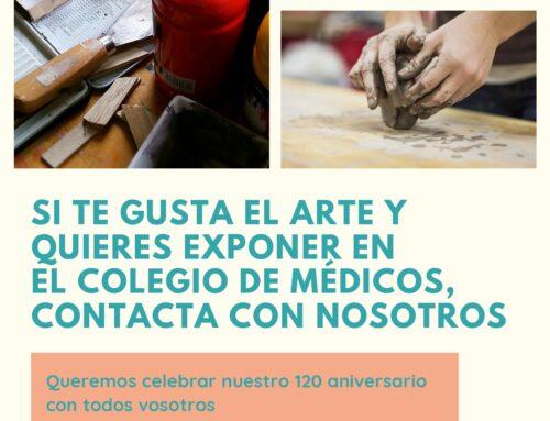 Si eres aficionado a la pintura, escultura, fotografía o cualquier otro arte y te gustaría exponer en el Colegio de Médicos, contacta con nosotros