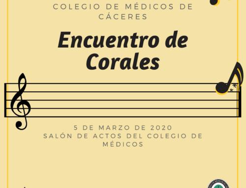 Encuentro de Corales en el Colegio de Médicos el 5 de marzo