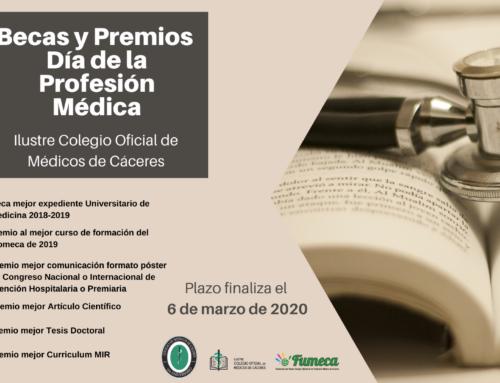 El Colegio de Médicos de Cáceres convoca las Becas y Premios del Día de la Profesión Médica