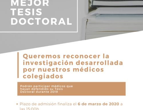 Convocado el Premio a la Mejor Tesis Doctoral