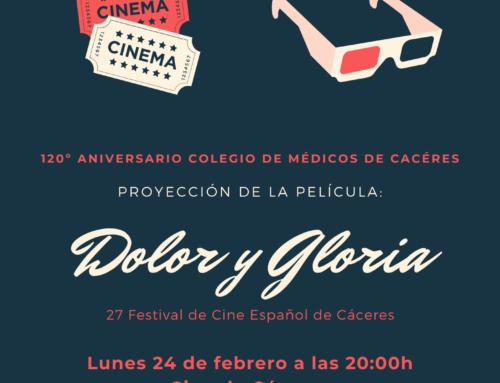 El Festival de Cine Español de Cáceres dedica la proyección de «Dolor y Gloria» a los 120 años del Colegio de Médicos de Cáceres