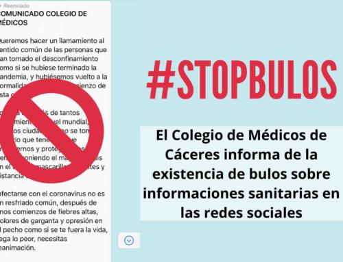 El Colegio de Médicos de Cáceres informa de la existencia de bulos sobre informaciones sanitarias en las redes sociales