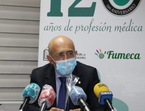 El presidente del Colegio de Médicos de Cáceres alerta del «desbordamiento» de los centros de salud