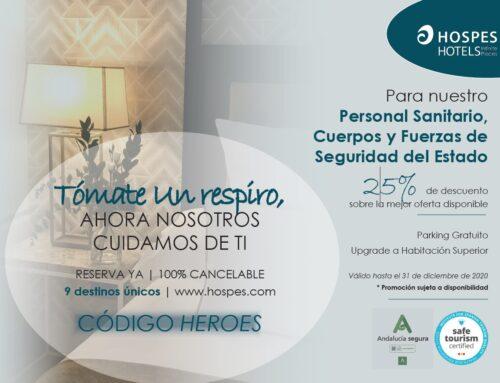 Hospes Hotels oferta un convenio especial para sanitarios