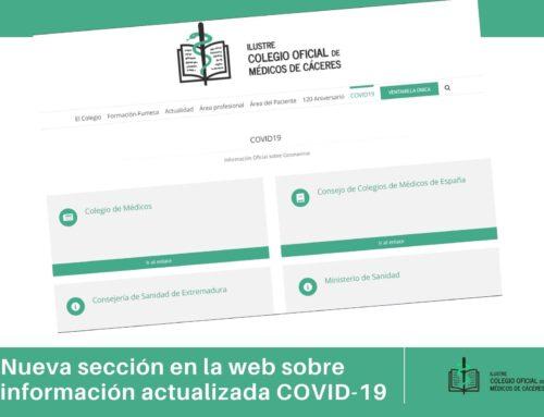El Colegio de Médicos dispone de una sección en su web para facilitar a los profesionales toda la información actualizada sobre la pandemia