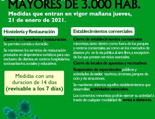 Medidas que se mantienen en Extremadura para frenar la expansión del virus