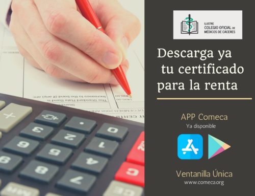 Descarga ya tu certificado para desgravarte el importe de la colegiación en la APP del colegio o en la Ventanilla Única