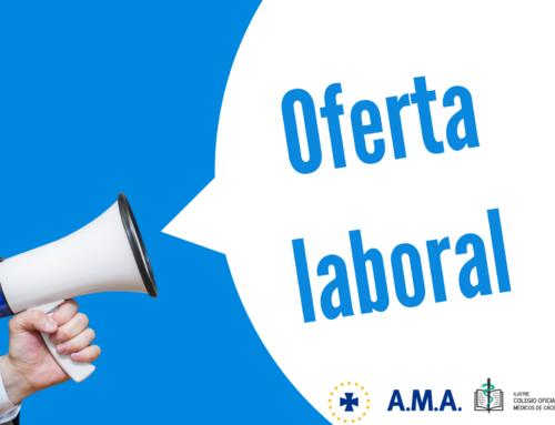 Oferta empleo compartida Colegio Oficial de Médicos de Cáceres/ A.M.A. Seguros